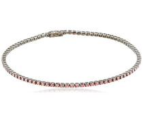women Damen-Armband 925 Silber Zirkonia rot 17.5 cm - C1423B/90/L5/17,5