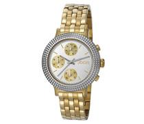 ! Damen-Armbanduhr Simply Gold Analog Quarz Edelstahl beschichtet JP101852004