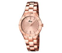Damen-Armbanduhr XS Analog Quarz Edelstahl beschichtet 15898/2