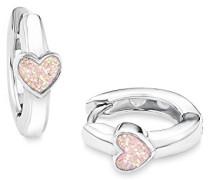 Prinzessin Lillifee Kinder-Creolen Mädchen Herzen 925 Silber rhodiniert Emaille rosa