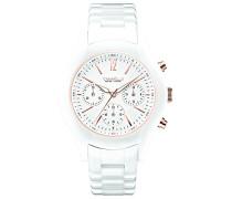 Caravelle New York Damen-Armbanduhr Chronograph Quarz Keramik 45L144