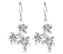 Damen Ohrhänger Blume 925 Sterling Silber 302180812