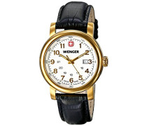 Wenger Damen-Armbanduhr XS URBAN CLASSIC PVD Analog Quarz Leder 01.1021.109