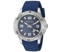 Nautica Herren-Armbanduhr Analog Quarz Silikon NAI12522G