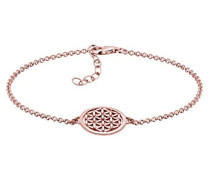 Damen Schmuck Echtschmuck Armband Gliederarmband Ornament Lebensblume Sterling Silber 925 Rosé Vergoldet Länge 17 cm
