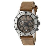 Men'- Armbanduhr Analog Quarz Leder Beige Armband BM 532-910