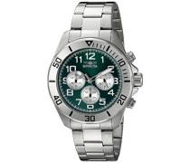 Invicta Herren-Armbanduhr Chronograph edelstahl Silber 18007