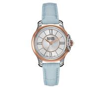 Bulova Damen-Armbanduhr Analog Quarz Leder 65R158