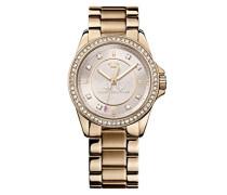 Juicy Couture Damen-Armbanduhr Analog Quarz Gold 1901077