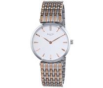 Damen-Armbanduhr XS Analog Quarz Edelstahl beschichtet 12230623