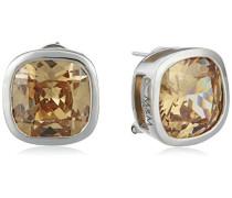 Damen-Ohrstecker 925 Sterling Silber Zirkonia beige MO-1429