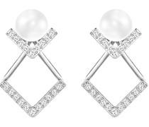 Swarovski Damen-Ohrhänger Edify Edelstahl rhodiniert Kristall transparent - 5219762