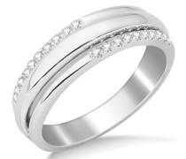Miore Damen-Ring 9 Karat (375) Weißgold Diamant
