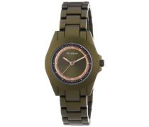 Damen-Armbanduhr XS Analog Quarz Edelstahl beschichtet 701334401