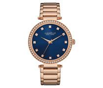 Caravelle New York Damen-Armbanduhr T-BAR Analog Quarz Edelstahl beschichtet 44L210