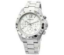 Unisex-Armbanduhr Chronograph Quarz Edelstahl
