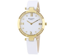Damen-Armbanduhr XS Analog Quarz Leder 12100565