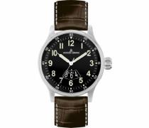 Herren-Armbanduhr XL Sport Analog Quarz Leder 1-1673H