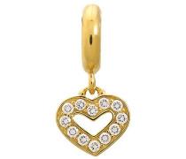 Damen-Charm JLo Dreamy Heart 925 Silber teilvergoldet Zirkonia weiß - 1891