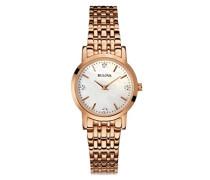 Diamant Women'- Armbanduhr Analog Quarz Gold ionenplattiert 97P106 Armband