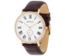 Herren-Armbanduhr Analog Quarz Leder 61510