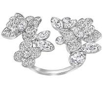 Damen-Ring Eden Open Edelstahl Kristall transparent
