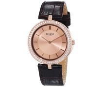 Damen-Armbanduhr XS Analog Quarz Leder 12090294