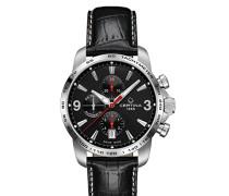 Herren-Armbanduhr XL Chronograph Automatik Leder C001.427.16.057.00