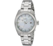 Damen-Armbanduhr Analog edelstahl Silber 20351