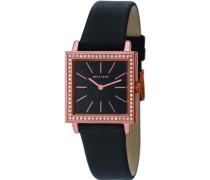 Damen-Armbanduhr Clarte Analog Quarz Leder