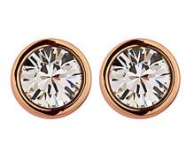 Damen-Ohrstecker Icons Thelma Rg Messing teilvergoldet Kristall transparent Prinzess - 334802