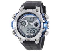 Armbanduhr für Herren mit Digital Anzeige, Quarz-Uhr und Silikonarmband, Wasserdichte mit zeitlosem, schickem Design - klassische, elegante Uhr für Männer - BM800-112C Digital Power