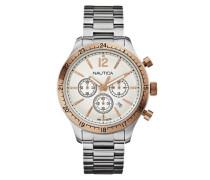 Herren-Armbanduhr XL Chronograph Quarz Edelstahl A19618G