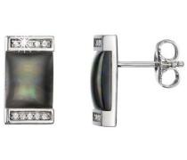 Damen-Ohrstecker 925 Sterling Silber rhodiniert Kristall Zirkonia Crépuscule weiß PCER90209A000