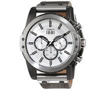 Cerruti 1881 Herren-Armbanduhr MANTORE Analog Quarz Leder CRA130SUT04GY