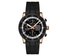 Herren-Armbanduhr XL Multifort Chronograph Automatik Kautschuk M0056143705709