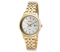 Seiko Damen-Armbanduhr Quarz Analog Edelstahl beschichtet SUR792P1