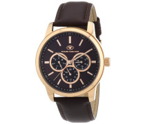 Herren-Armbanduhr XL Analog Quarz Leder 5410403