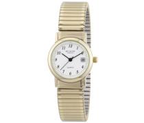 Damen-Armbanduhr XS Analog Edelstahl beschichtet 12300078
