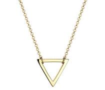 Damen Schmuck Echtschmuck Halskette Kette ohne Anhänger Dreieck Geo Trend Sterling Silber 925 Vergoldet Länge 45 cm