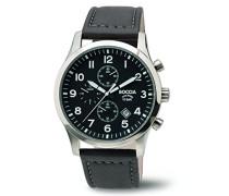 Herren-Armbanduhr Chronograph Quarz Leder 3755-01