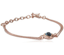 Guess Damen-Armband Herz Messing Glas Blau 19.0 cm - UBB21533-S