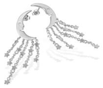 Damen-Ohrringe Mond und Sterne 925 Sterlingsilber 2 Zirkonia Fo O5767S Schmuck