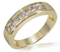 Damen-Ring 585 Gelbgold Memoire 7 Diamanten 0,50ct