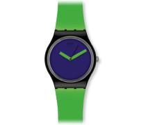 Unisex-Armbanduhr Gent Bicoloured Analog Plastik Green'n Violet GB267