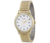 Regent Herren-Armbanduhr XL Analog Edelstahl beschichtet 11300019