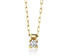 Miore Halskette 18Ct/750 Gelbgold mit Brillant ca.0,08Ct M0600Y