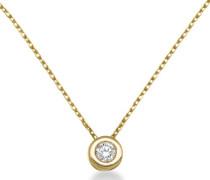 Miore Damen-Halskette mit Anhänger 18 Karat (750) Gelbgold 2,17g Diamant 0,1ct 45cm