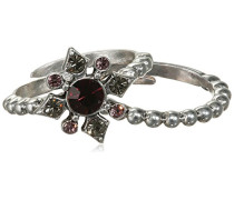 Jewelry Damen-Stapel-Ring Messing  Damen-Stapel-Ring aus der Serie Infinite versilbert,lila  1.5 cm 151336604