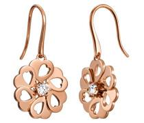 Damen-Ohrhänger 925 Sterling Silber rhodiniert Glas Zirkonia La Fleur weiß S.PCER90243C000